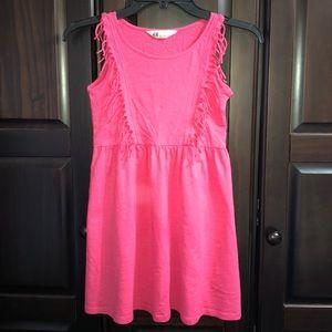Girls Rose Pink Summer Dress